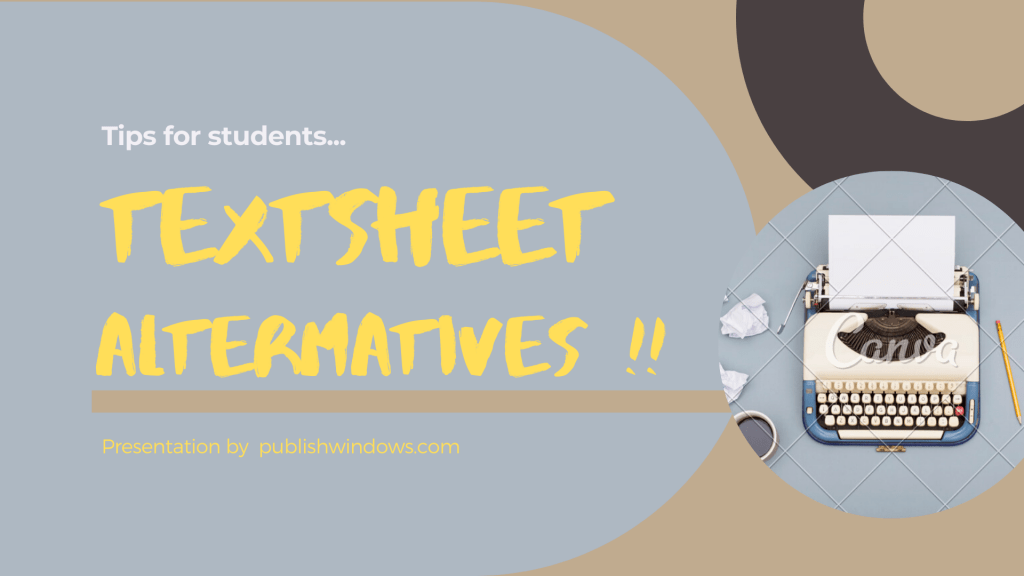 Textsheet alternatives : Top 7 Websites like textsheet !!